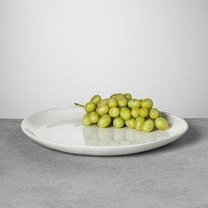 Stoneware Serving Platter - Cream - Hearth & Hand™